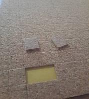 Пробковые прокладки для стеклопакетов 15*15*3 мм