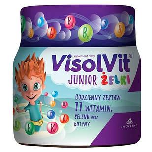 Visolvit Висолвит Юниор, желейки для детей от 3 лет, фруктовый ароматизатор, 50 штук