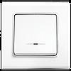 Выключатель одноклавишный с подсветкой, Белый Linnera (90400019) VI-KO