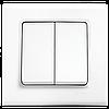 Выключатель двухклавишный, Белый Linnera (90400002) VI-KO