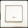 Выключатель одноклавишный с подсветкой, крем Linnera (90401019) VI-KO