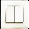 Выключатель двухклавишный, крем Linnera (90401002) VI-KO