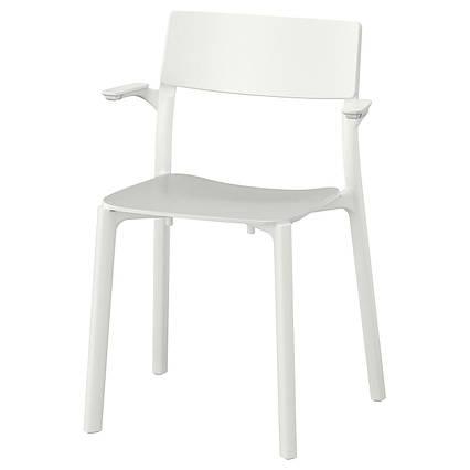 ✅ IKEA JANINGE (802.805.15) Стул с подлокотниками, белый