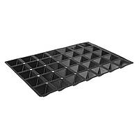 Форма для выпечки Hendi силиконовая Pyramide  60х40 см., 6.5x6.5x3.5 см, 35 яч.,черная (676264)