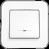 Выключатель одноклавишный с подсветкой, Белый Rollina (90420019) VI-KO