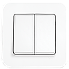 Выключатель двухклавишный, Белый Rollina (90420002) VI-KO