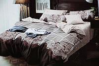 Двуспальное постельное белье Mency коричневого окраса
