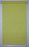 Готовые рулонные шторы 325*1500 Ткань Акант 116 Оливковый