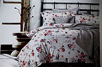 Двуспальное постельное белье Mency красные цветочки