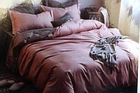 Полуторное постельное белье LORIDA коричневая клетка