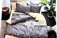 Двуспальное постельное белье LORIDA серое