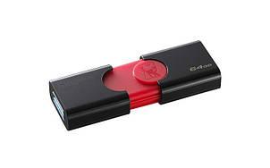 Флеш-накопитель USB3.1 64GB Kingston DataTraveler 106 Black/Red (DT106/64GB), фото 2