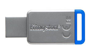 Флеш-накопитель USB3.1 64GB Kingston DataTraveler 50 Metal/Blue (DT50/64GB), фото 2