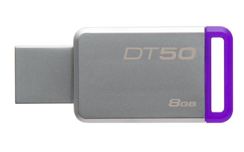 Флеш-накопитель USB3.1 8GB Kingston DataTraveler 50 Metal/Purple (DT50/8GB)