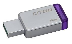 Флеш-накопитель USB3.1 8GB Kingston DataTraveler 50 Metal/Purple (DT50/8GB), фото 2