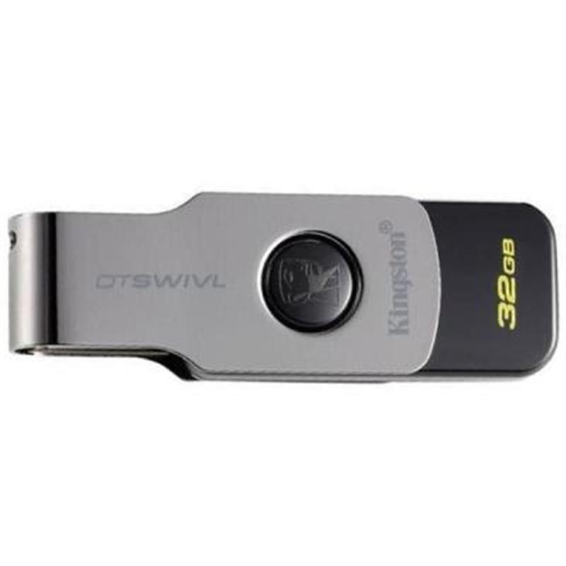 Флеш-накопичувач USB3.1 32GB Kingston DataTraveler Swivl Black (DTSWIVL/32GB)