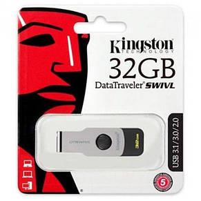 Флеш-накопичувач USB3.1 32GB Kingston DataTraveler Swivl Black (DTSWIVL/32GB), фото 2