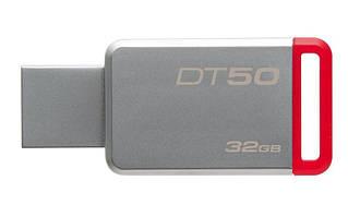 Флеш-накопитель USB3.1 32GB Kingston DataTraveler 50 Metal/Red (DT50/32GB)