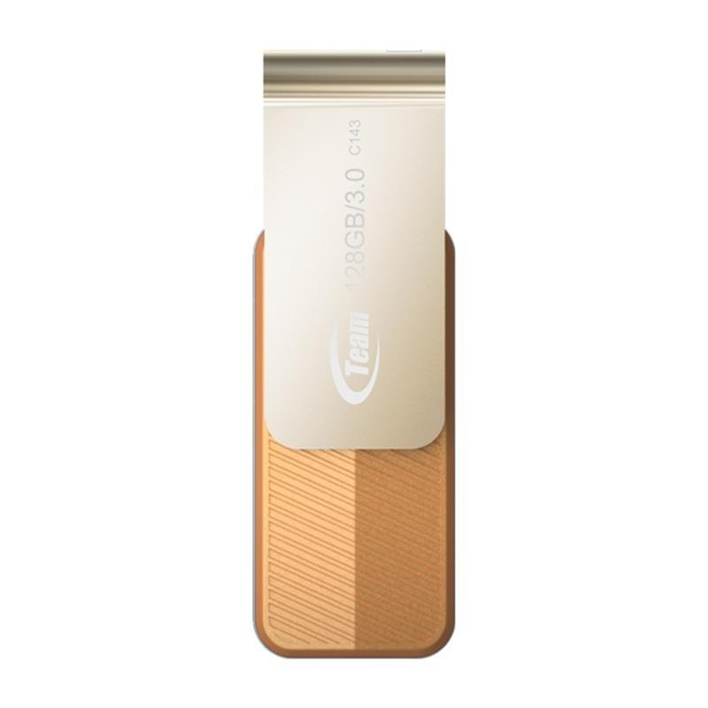 Флеш-накопитель USB3.0 128Gb Team C143 Brown (TC1433128GN01)