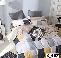 Полуторное постельное белье Голд шахматы