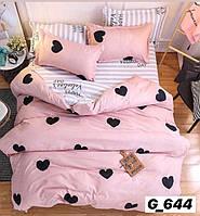 Полуторное постельное белье Голд розовое