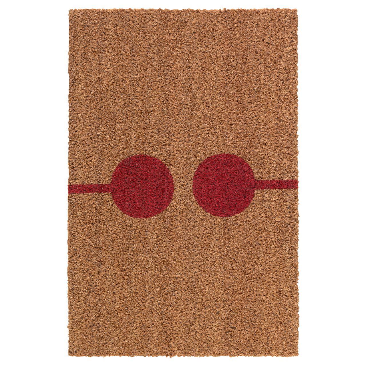 ✅ IKEA VEJERS (003.827.68) Придверный коврик, натуральный, красный