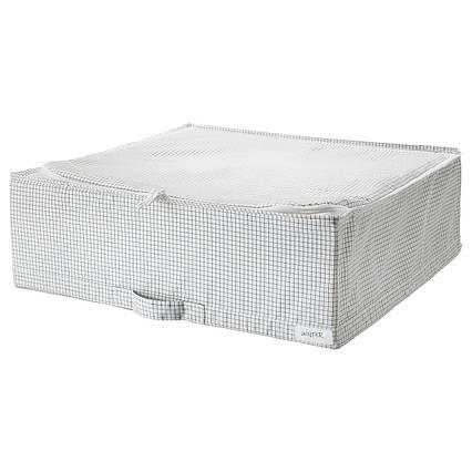✅ IKEA STUK (403.095.73) Контейнер для одежды/постельных принадлежностей, белый/серый
