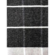 Плед Хлопковый 140X200 VLADI Темно-Серый клетка, фото 2