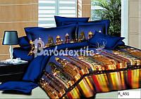 3D Семейное постельное белье Ранфорс ночной город