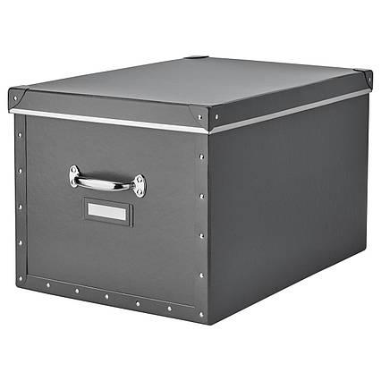 ✅ IKEA FJALLA (503.956.69) Коробка с крышкой, темно-серый