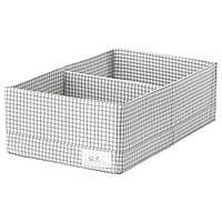 ✅ IKEA STUK (203.640.04) Коробка с перегородками, белый/серый