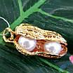 Срібний кулон з позолотою Арахіс - Брендовий срібна підвіска з перлами Арахіс, фото 9