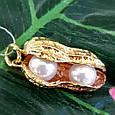 Серебряный кулон с позолотой Арахис - Брендовая серебряная подвеска с жемчугом Арахис, фото 9