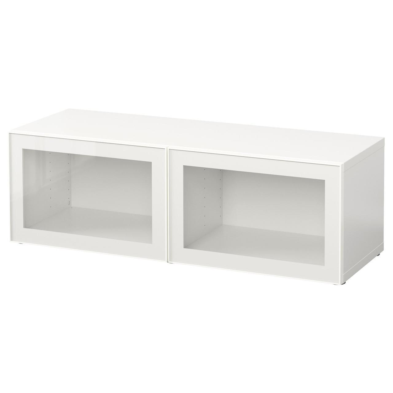 ✅ IKEA BESTA (490.478.07) Шкаф, Glassvik белый
