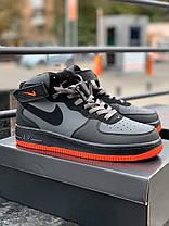 Мужские кроссовки в стиле Nike Air Force 1 Mid / высокие, фото 3