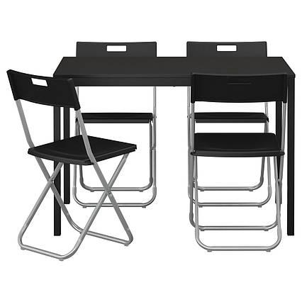 ✅ IKEA TARENDO / GUNDE (890.106.99) Стол и 4 стула, черный
