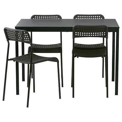 ✅ IKEA TARENDO / ADDE (790.106.90) Стол и 4 стула, черный