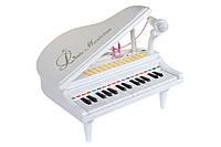 Детское пианино синтезатор Baoli с микрофоном 31 клавиши (белый)