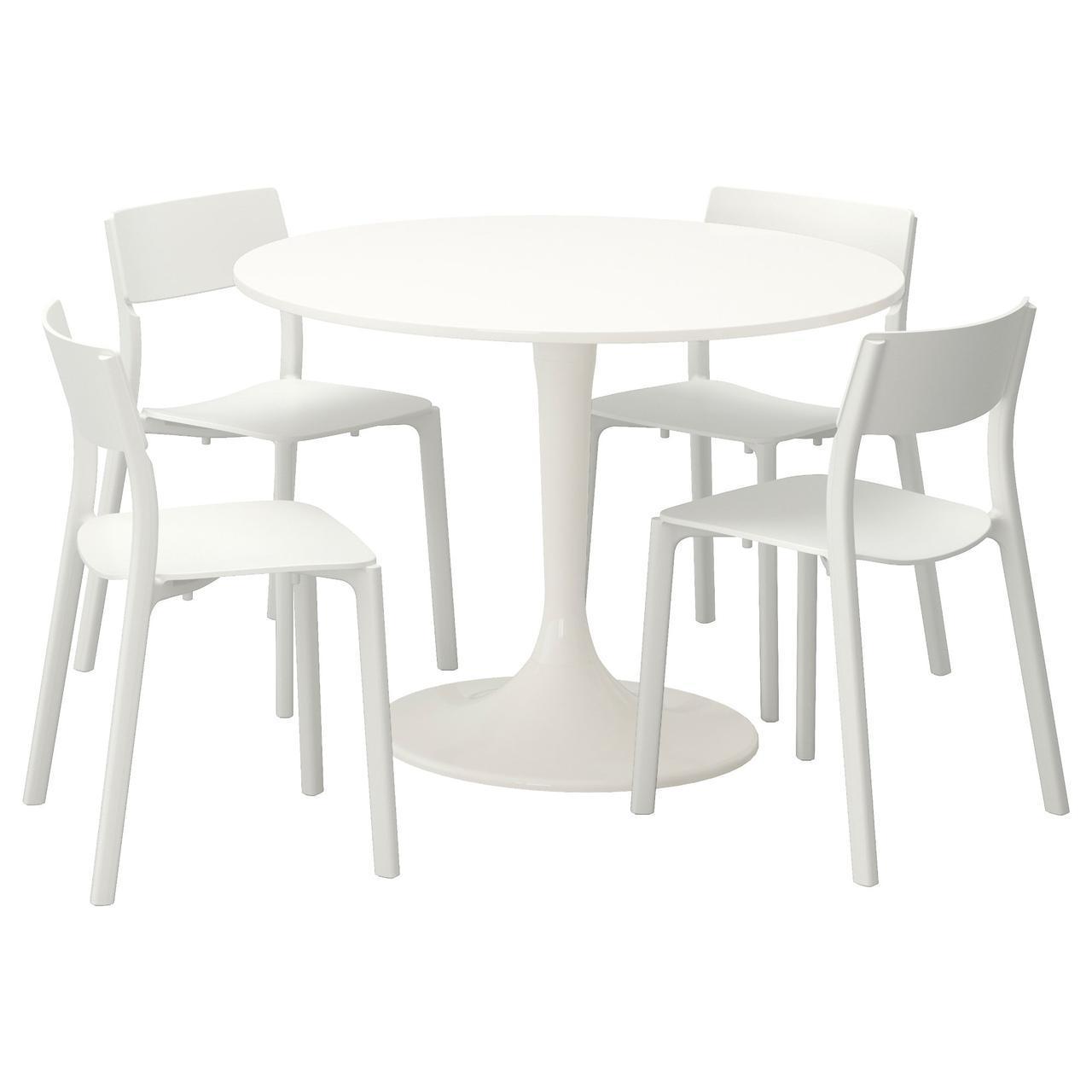 ✅ IKEA DOCKSTA / JANINGE (792.297.97) Стол и 4 стула