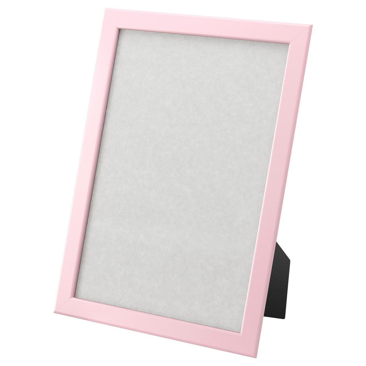 ✅ IKEA FISKBO (202.956.52) Рамка розовая