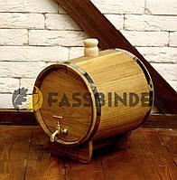 Бочка дубовая (жбан) для напитков Fassbinder™ 10 литров