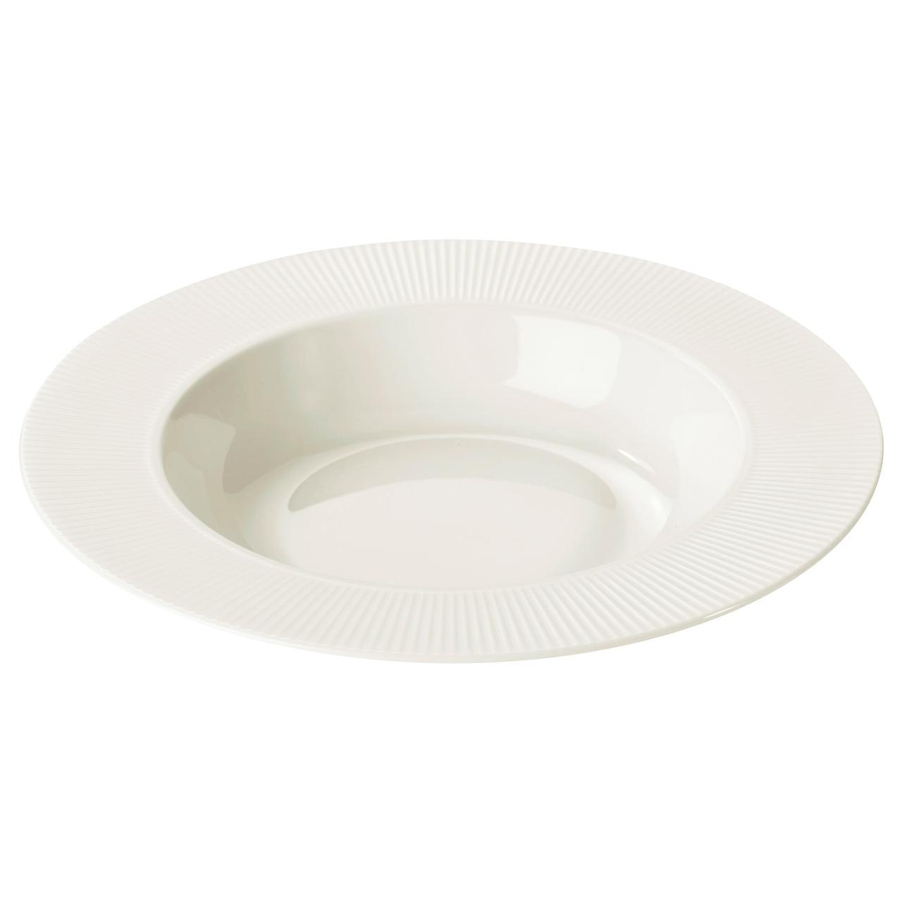 ✅ IKEA OFANTLIGT (603.190.19) Глубокая белая тарелка