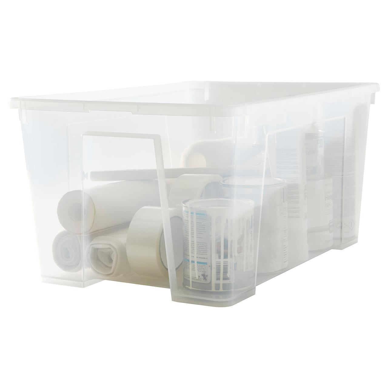 ✅ IKEA SAMLA (301.029.74) Коробка прозрачная