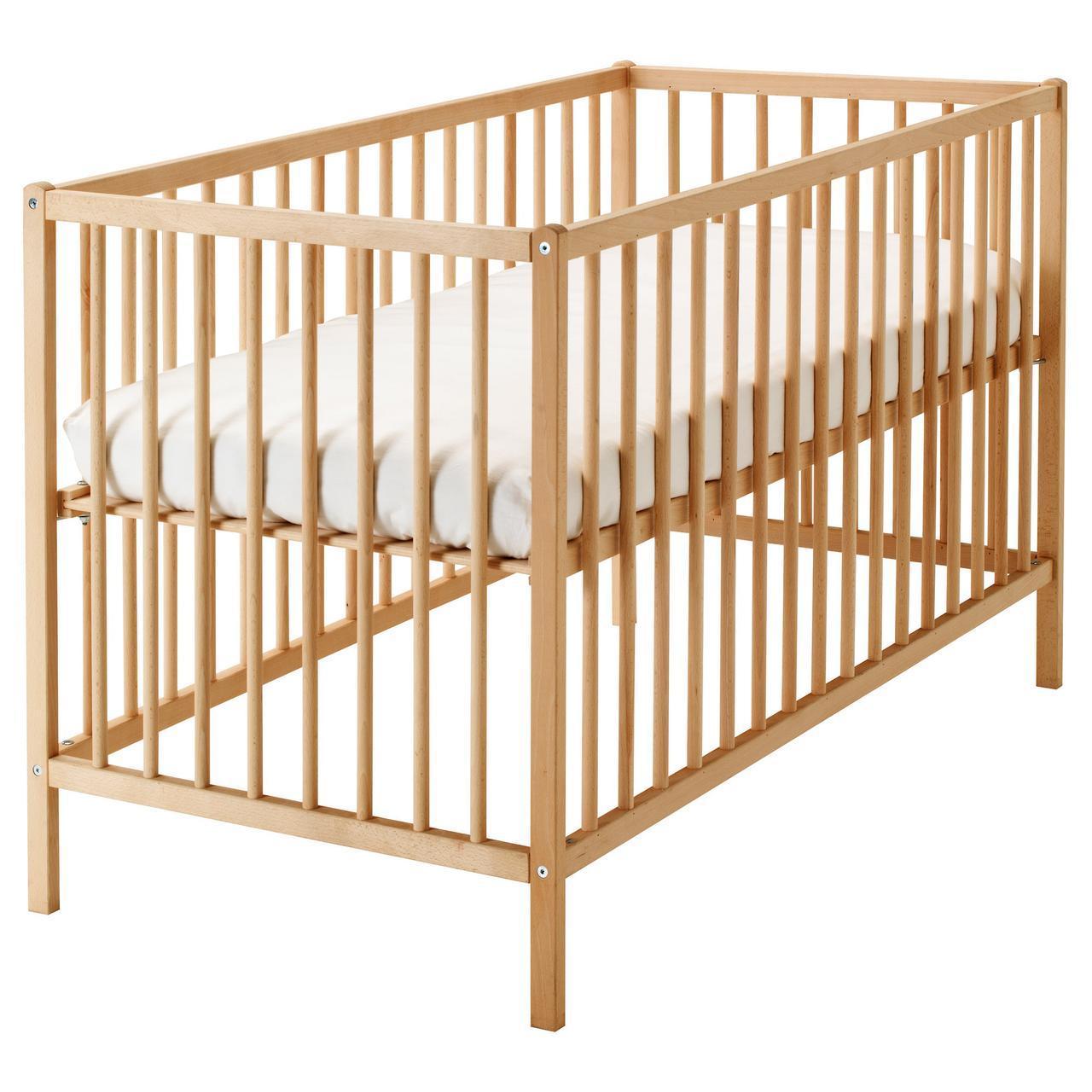 ✅ IKEA SNIGLAR (302.485.37) Детская кроватка , бук