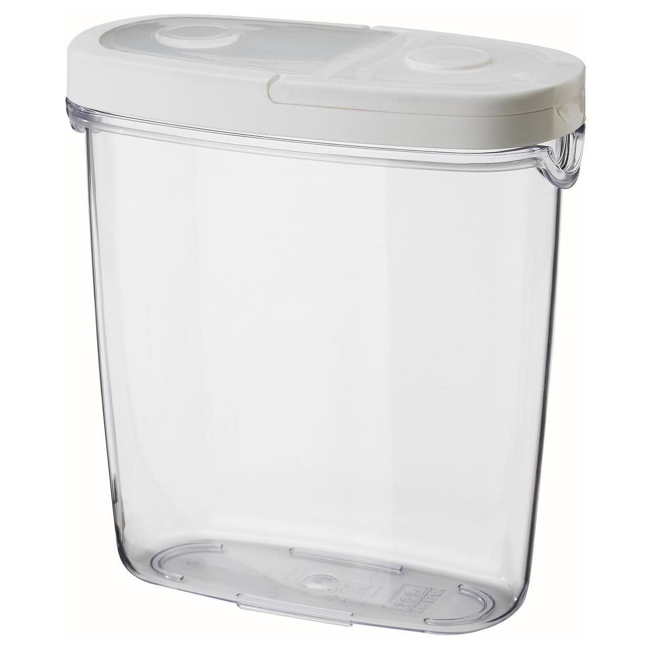 ✅ IKEA IKEA 365+ (800.667.23) Контейнер для сухих продуктов/крышек, прозрачный, белый