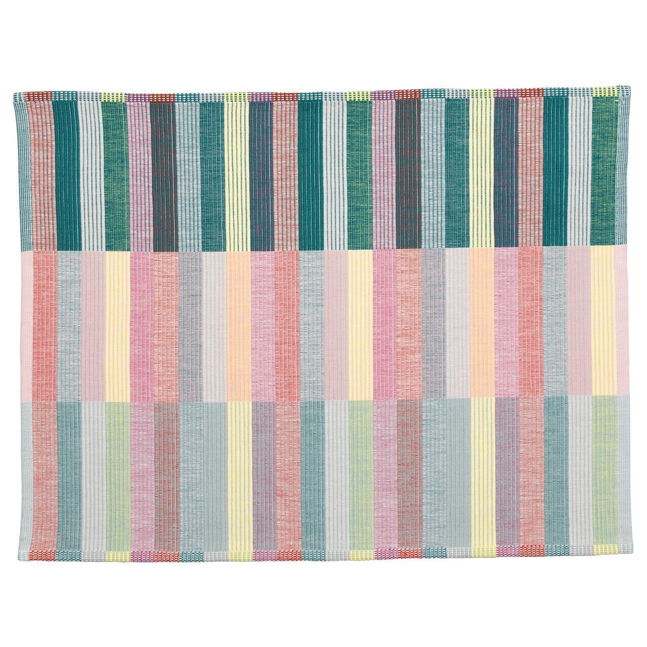 ✅ IKEA MITTBIT (803.435.65) Салфетка под приборы,, розовая бирюзовая, светло-зеленая