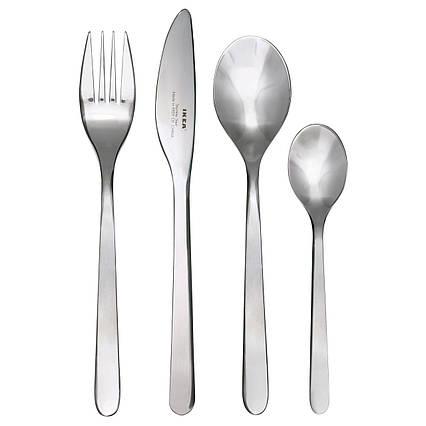 ✅ IKEA FORNUFT (700.149.99) Набор столовых приборов, 24 шт., Нержавеющая сталь