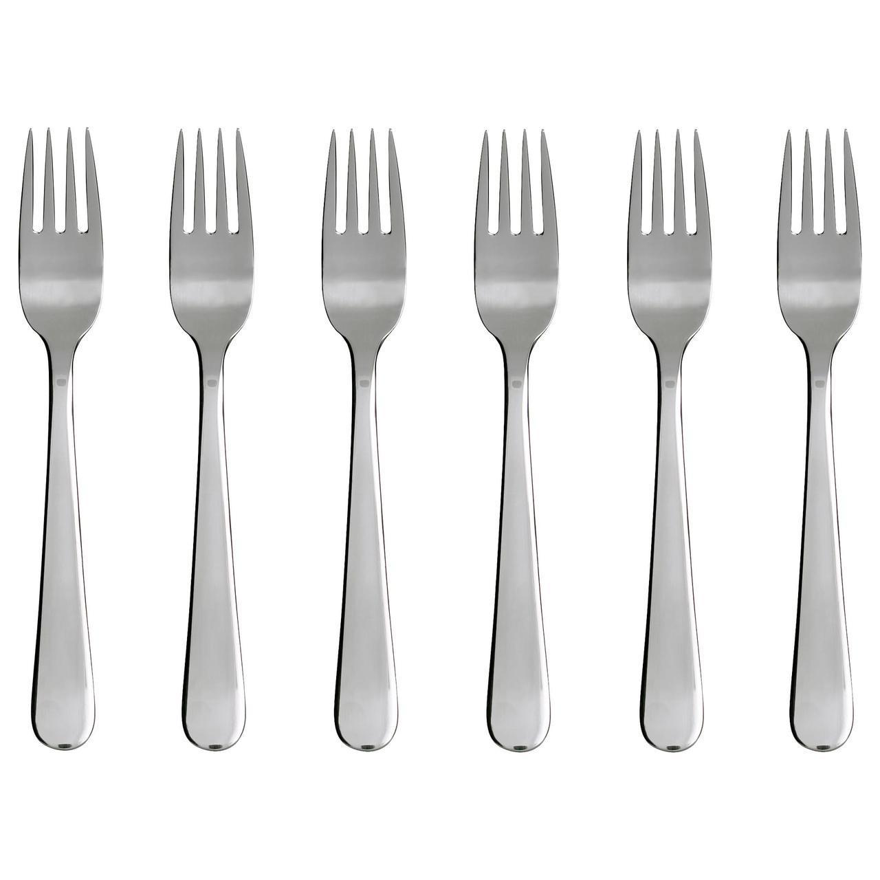✅ IKEA DRAGON (300.903.82) Вилка для салатов/десертов, нержавеющая сталь
