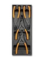 2424 T145-набор клещей для стопорных колец, 4 предмета