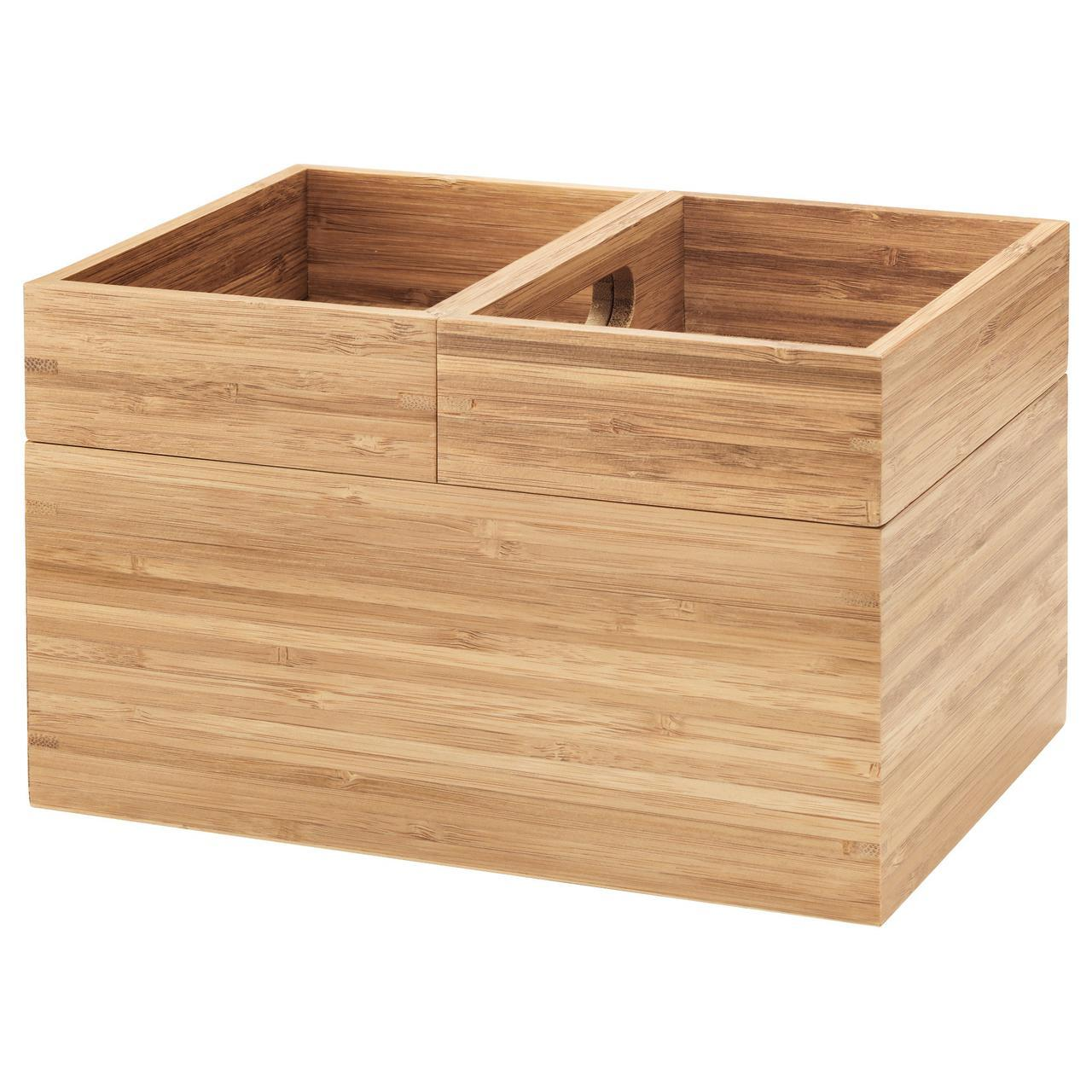 ✅ IKEA DRAGAN (502.818.56) Коробка, 3 шт., Бамбук